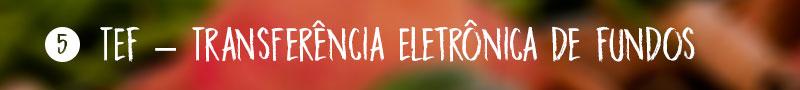 5) TEF – Transferência Eletrônica de Fundos