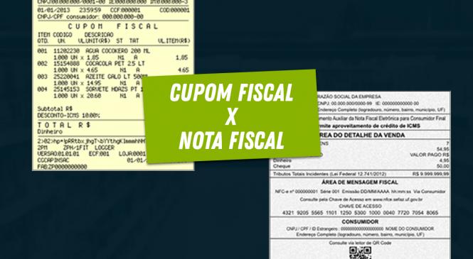 Entenda a diferença entre cupom fiscal e nota fiscal?